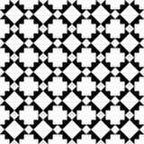 Crosses abstract geometric pattern seamless. Black and white crosses geometric seamless pattern Royalty Free Stock Photography