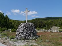 Crosses along the way to Kamenjak Royalty Free Stock Image