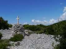 Crosses along the way to Kamenjak Stock Photography