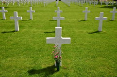 Crosses at Netherlands American Cemetery Margraten Stock Photos