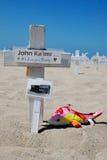 Crosses at Arlington West  in Santa Monica Stock Images