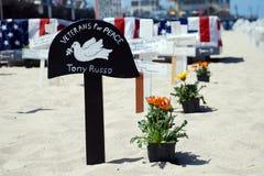 Crosses at Arlington West  in Santa Monica Stock Photography