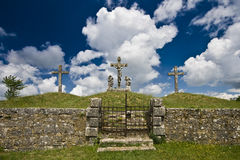 Crosses of the calvary in Zminj Stock Photos