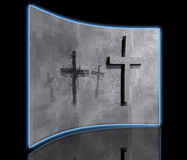 Crosses carved in the wall Stock Photography