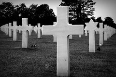 Crosses at cemetery in Normandy Royalty Free Stock Photography