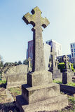 Crosses in a cemetery on the outskirts of London Stock Image