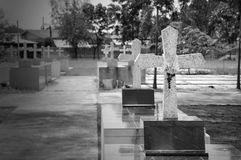 Crosses at chantaburi cemetery Stock Images