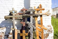 Crosses Church of the Holy spirit, the new village, Pereslavl district Royalty Free Stock Photo