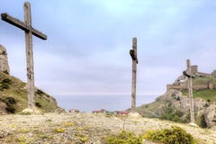 Crosses for crucifixion Royalty Free Stock Images
