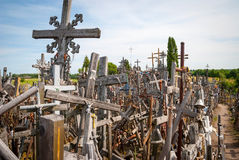 Crosses detail at the hill of crosses, Lithuania Stock Photos
