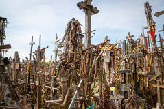 Crosses detail at the hill of crosses, Lithuania Stock Image