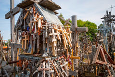 Crosses detail at the hill of crosses, Lithuania Royalty Free Stock Images