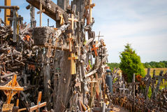 Crosses detail at the hill of crosses, Lithuania Royalty Free Stock Image