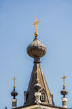 Crosses and domes of Church in Alushta Stock Photo