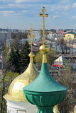 Crosses on the domes of Yaroslavl churches Royalty Free Stock Photography
