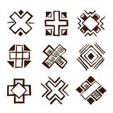 Crosses ethnic elements Royalty Free Stock Photography