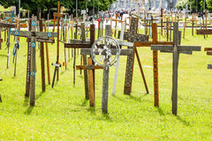 Crosses garden - Lourdes Stock Image