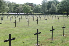 Crosses in German WW1 military cemetery, St Mihiel, France Stock Photography