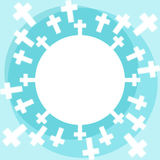 Crosses and heaven religious card Stock Photos