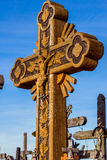 Crosses on the Hill of Crosses in Lithuania. Stock Image