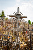 Crosses at the hill of crosses, Lithuania Royalty Free Stock Photo