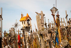 Crosses at the hill of crosses, Lithuania Royalty Free Stock Photos