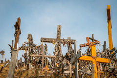 Crosses at the hill of crosses, Lithuania Royalty Free Stock Image