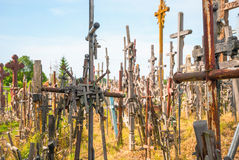 Crosses at the hill of crosses, Lithuania Stock Images