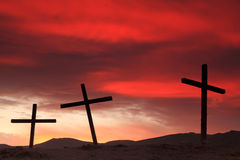 Crosses on a hill Stock Image