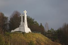 Crosses on a hill Stock Photography