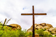 Crosses on a Hillside Royalty Free Stock Image