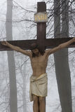 Crosses Jesus and the two thieves on Calvary. International Shri Stock Photography