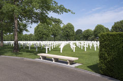 Crosses on military graves of fallen U.S. soldiers. Stock Photos