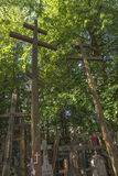 Crosses on the Mount Grabarka, Poland Stock Photos