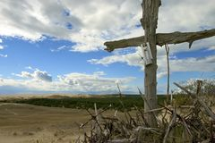 Crosses, Neringa. The small hill of crosses, Neringa, Lithuania Royalty Free Stock Image