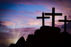 Free Crosses On A Hill Stock Photography - 102267312
