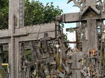 Crosses. Picture of crosses on the Hill of Crosses near Siauliai, Lithuania stock images