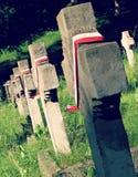 Crosses in a Polish Graveyard in Vilnius Stock Photo