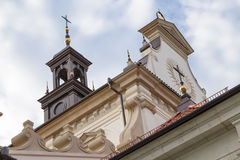 Crosses on the roof of a Catholic cathedral Stock Photography