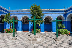 3 crosses Santa Catalina monastery Arequipa Peru Stock Image