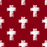 Crosses seamless pattern red Stock Photo