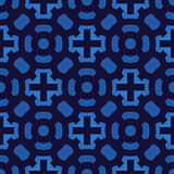 Crosses seamless pattern vector. Crosses seamless pattern. Geometric vintage wallpaper. Vector blue texture Royalty Free Stock Image
