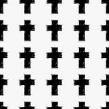 Crosses seamless pattern Royalty Free Stock Photos