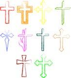 Crosses set Stock Photography
