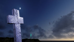 Crosses  silhouette Stock Photo
