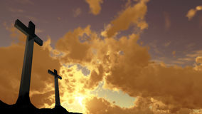 Crosses  silhouette Royalty Free Stock Images