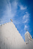 Crosses in the sky, Mykonos, Greece Royalty Free Stock Images