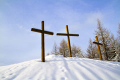 Crosses the snow Stock Photography