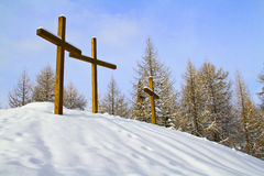Crosses the snow Royalty Free Stock Photography