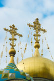 Crosses on Domes, St. Petersburg Stock Photography